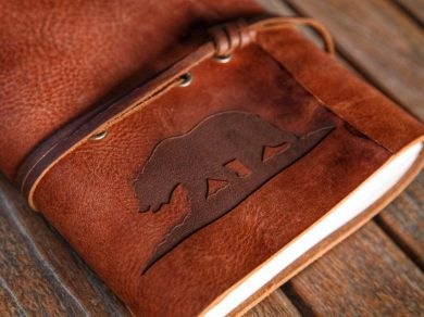 The California Bear Leather Journal | Leather Sketchbook