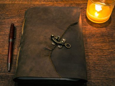 Brown Leather Journal with Brass Clasp
