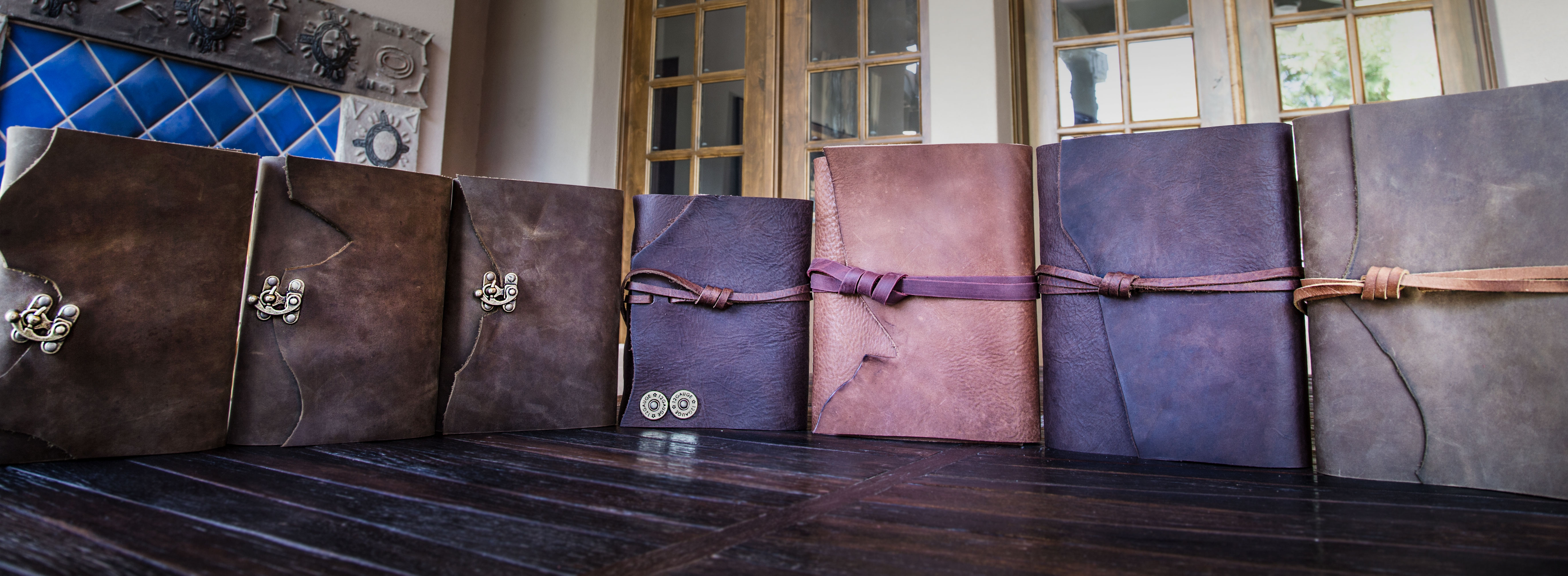 7 leather journals offered by Trekker Leather Co