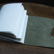 Limited edition leather journal made by Trekker Leather Co