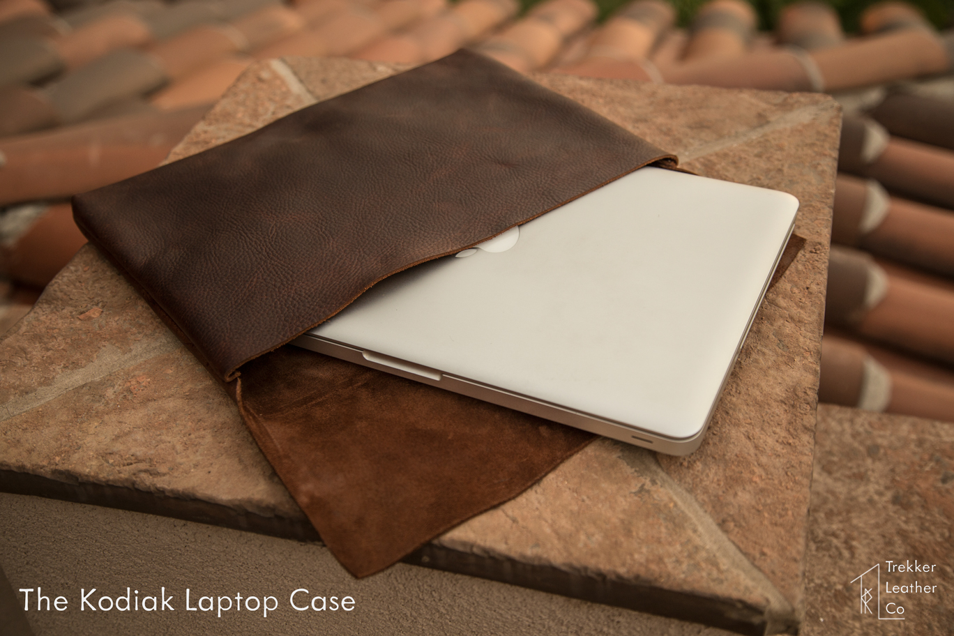 The Kodiak Leather Laptop sleeve is designed to fit a 13