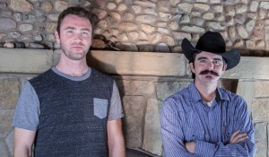 The leather artisans for Trekker Leather Co: Jon Cline and John Griffin