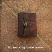 The Brass Clasp Kodiak Journal by Trekker Leather Co