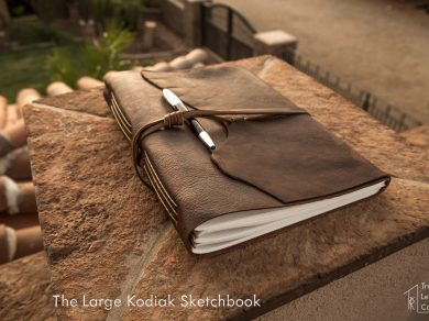 Large Kodiak Leather Sketchbook
