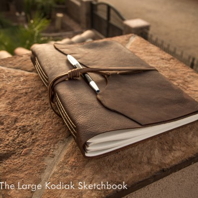The Large Kodiak Leather Sketchbook by Trekker Leather Co.