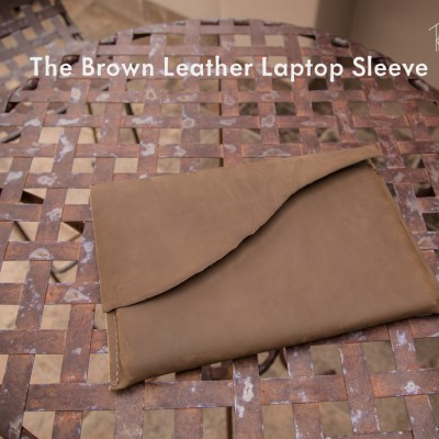 The Utility Leather Laptop Sleeve by Trekker Leather Co