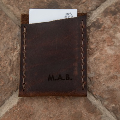The Leather Business Card Sleeve by Trekker Leather Co