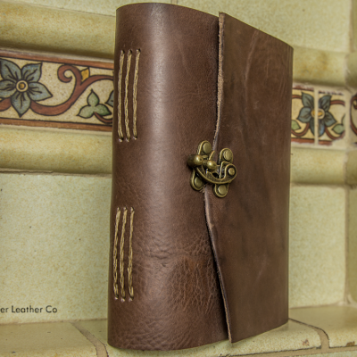 Chestnut Journal with Clasp by Trekker Leather Co