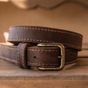 The Bear Belt by Trekker Leather Co is Brazilian Kodiak Leather that has been stitched together to make a beautiful, heavy duty belt.