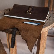 The Jumbo Kodiak Leather Sketchbook by Trekker Leather Co