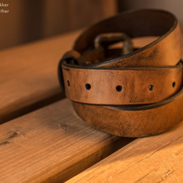 The Coffee Belt is a handmade leather belt produced by Trekker Leather Co