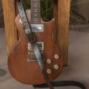 Trekker leather electric guitar strap