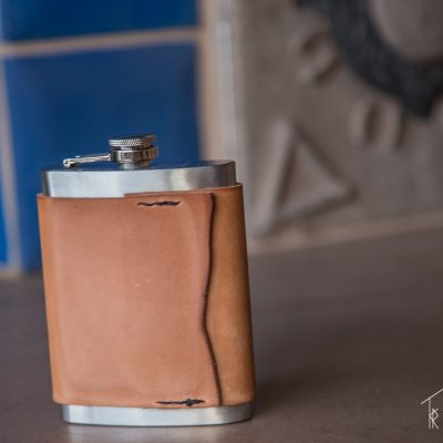 The Italian Leather Flask by Trekker Leather Co