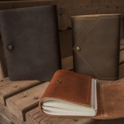 Trekker Leather Co specializes in envelope-style leather journals and other leather goods