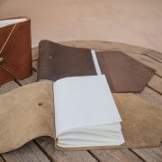 Open leather journals by trekker leather